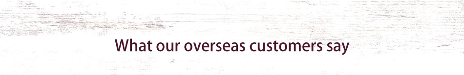 What our overseas customers say